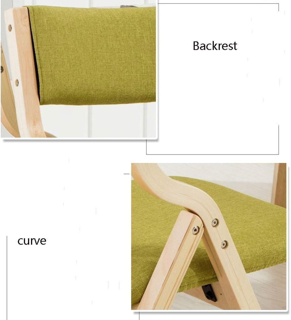 Mlzaq Chaise pliante en bois portable Chaise longue, Taille: 48,5 * 42,5 * 78.5cm (Color : Cyan) Khaki