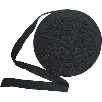 Cinta de sarga de 20 mm, de algodón natural suave, cinta al bies para costura, manualidades negro: Amazon.es: Hogar