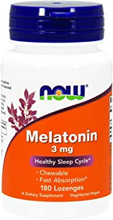 NOW Foods - Melatonin Chewable薄荷味道 3 镁。180锭剂