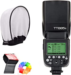 Godox TT685S HSS 1/8000S GN60 TTL Flash Speedlite 0.1-2.s Recycle Time 230 Full Power Flashes Supports TTL/M/Multi/S1/S2 M...