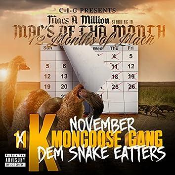 Mac's of tha Month November 11K Mongoose Gang / 12 Months of Mac'n (Dem Snake Eatters)