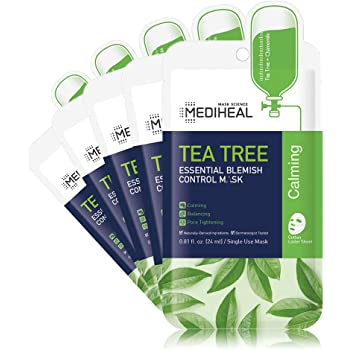 MEDIHEAL Official [Korea's No 1 Sheet Mask] - Tea Tree Essential Blemish Control Mask (5 Masks)
