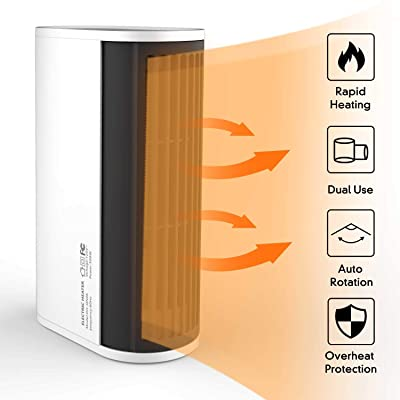 Space heater, Portable Electric Heater with Aut...