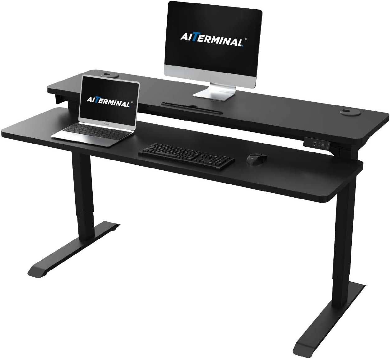 AITERMINAL Electric Stand Under blast sales Up Desk Adju 2 Dual Popular popular Tiers Motor-Height