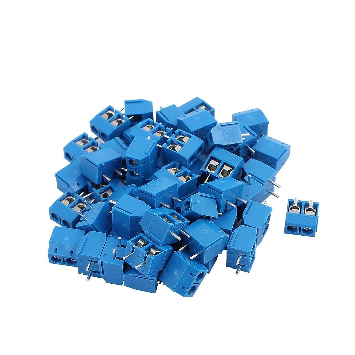 笑い売るいまuxcell ターミナルブロック プラスチック メタル PCBターミナルブロックコネクタ AC250V 50個入り