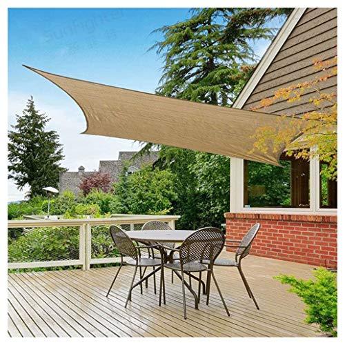 10 'X 16' Sun Toldo Vela Rectangular, 95% UV 185GSM Sombra Sail Shade Tela para Exteriores Bloque de Sombra Patio Jardín Instalaciones Actividades Sombra Protector Solar Sombra Red,Múltiples Tamaños