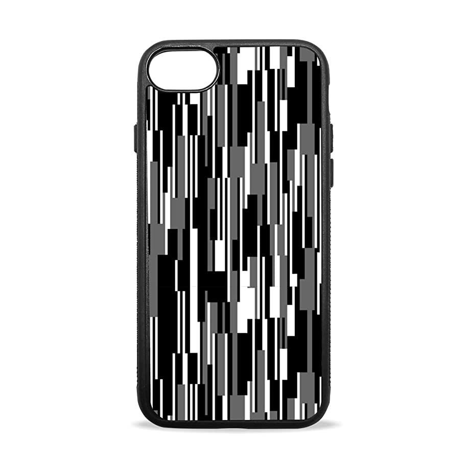 Cool Black and White Striped iPhone 8/8 Plus case, iPhone 7/7 Plus Case, Slim-Fit Matte TPU Clear Bumper Flexible Rubber Silicone Rugged Thin Protective Phone Case Cover