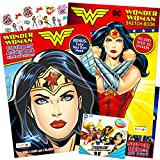 DC Shop Wonder Woman Coloring and Activity Super Set ~ 2 Wonder Woman Books with Super Hero Girls Stickers (Wonder Woman Party Pack)