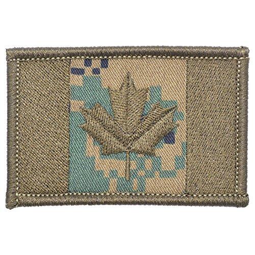 Canadian Flag Canada Maple Leaf 2x3 Morale Patch - Multiple Colors (Woodland Marpat)