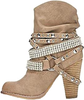 54da36b4c Amazon.fr : talon - Beige / Bottes et bottines / Chaussures femme ...