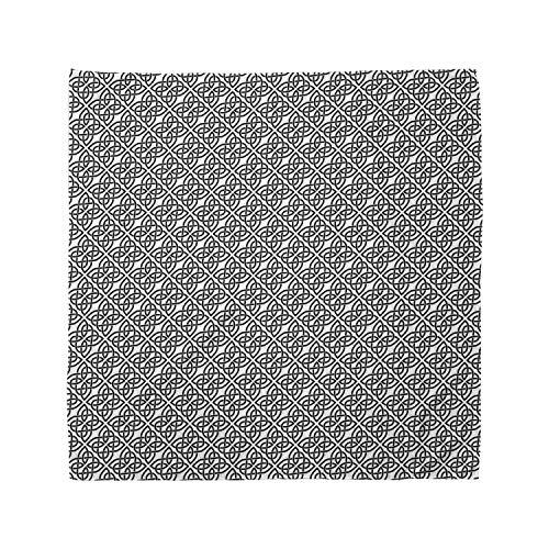 Ambesonne Celtic Bandana, Trellis Pattern Image, Unisex Head and Neck Tie