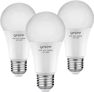 GEZEE 12Watt (80-100W Equivalent) A19 Dimmable LED Light Bulb,1000 Lumens, Daylight White(6000K), E26 Base,UL-Listed(3-Pack)