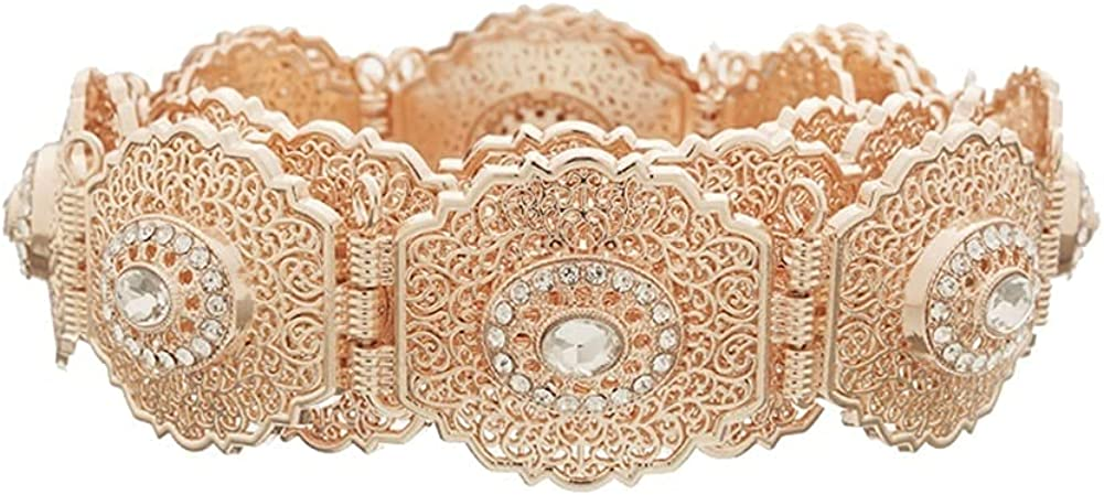 Chtom Women's Belts Luxury Gold Ranking TOP7 Alloy Waist Chain Size Plus Wide Max 81% OFF