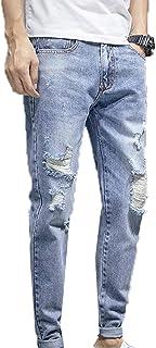 Generic11 Jeans da Uomo Primavera e Autunno Pantaloni Slim da Uomo Non Sono Facili da sbiadire Pantaloni Corti in Denim Tr...