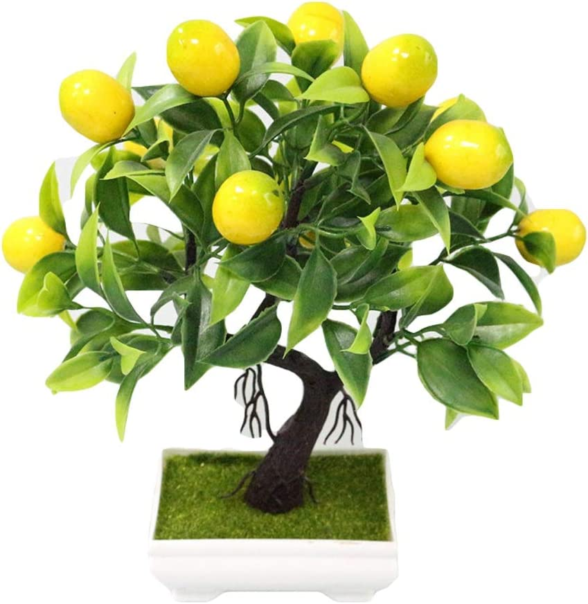 Beauty products Artificial Trees Limited time sale Plants Fake Tree T Yellow Foam Fruit