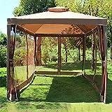 Carpa de Jardín 3 x 3m Plegable, Cenador de Jardín Carpas de Camping Al Aire Libre Impermeable con 4 Paredes Laterales, Montaje Rápido, 5-8 Personas