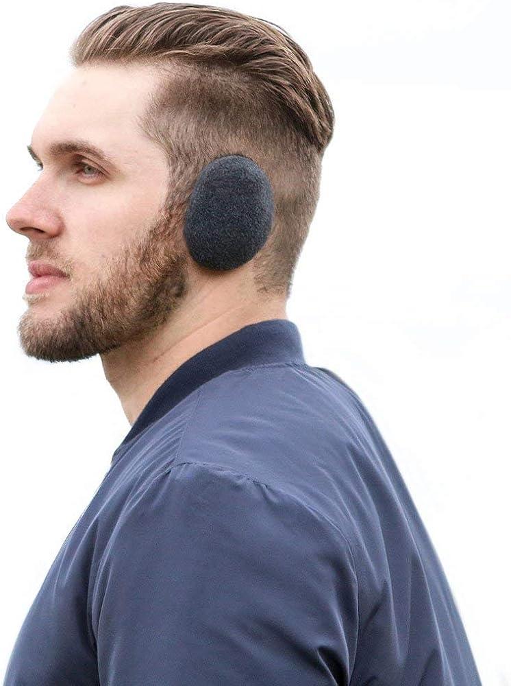 Black Earbags Fleece Earwarmers Unisex
