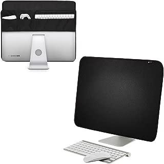 YEAKOO iMacモニターカバー PCモニタカバー モニタカバー 防塵カバー ディスプレイカバー Apple iMac 21.5インチ/27インチ ポケット付き 静電止め 多機能 大容量 ブラック