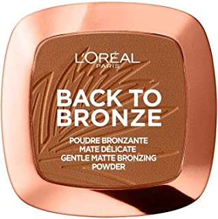 L'Oréal Paris Back to Bronze Gentle Matte Bronzing Powder, Bronzer met matte afwerking, voor een natuurlijk gebruinde look