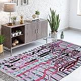 Tapis Style Berbère 140x210 cm Rectangulaire BERBERE AZILAL 33 Multicolore Salon Noué Main