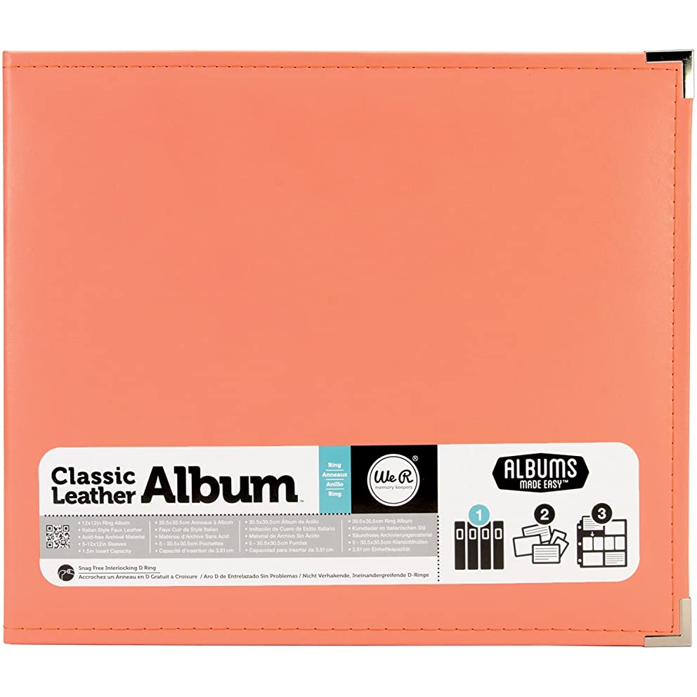 American Crafts 660906 We R Memory Keepers Classic D-Ring Scrapbooking Album, 12