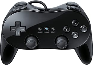 SQDeal Classic Pro Controller Console Gamepad Joystick for Nintendo Wii Game Remote (Black)
