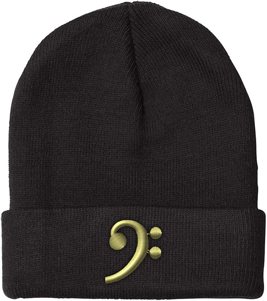 Beanies for Men Black Bass Clef Luxury Super popular specialty store goods Embroidery Gold Hats Winter Wome