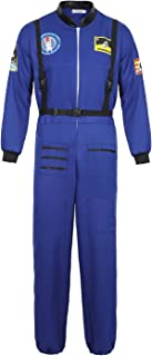 Astronaut Spaceman Costume for Mens Space Explorer Jumpsuit Flight Suit Adults Astronaut Cosplay Costumes