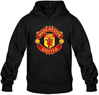 XIULUAN Men's Manchester United F.C. Logo Hoodied Sweatshirt