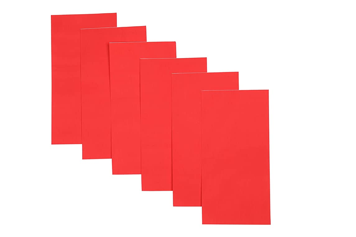 """I-MART 6 Pcs Repair Patch, Self Adhesive Nylon Patches for Down Jacket Fabric, 8""""X4"""" (Red)"""