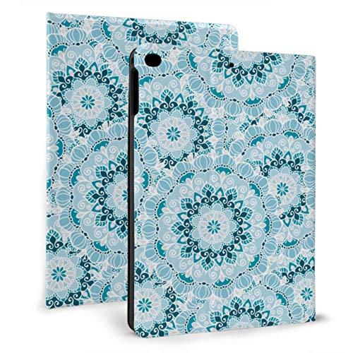 Funda para iPad con protección Mandala con Forma de Copo de Nieve con Forma de Flor para iPad para iPad Mini 4 / Mini 5/2018 6th / 2017 5th / Air/Air 2 con Auto Wake/Sleep Funda magnética plegabl
