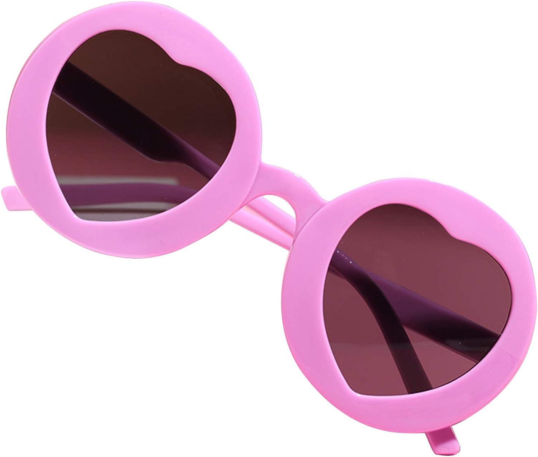 RSRZRCJ In a popularity Kids Toddler Sunglasses Raleigh Mall Round Shape Eyewea Heart Anti-UV