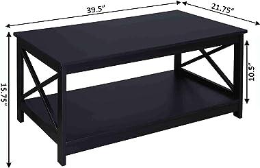 Convenience Concepts Oxford Coffee Table, Black