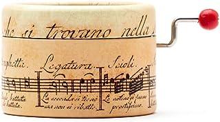 Caja de música Pentagrama Antiguo con la canción que elijas del menú con un mecanismo manual.