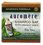 Auromere Shampoo Bar with Organic Neem Tulsi-Spice - 4.85 oz (2 -...