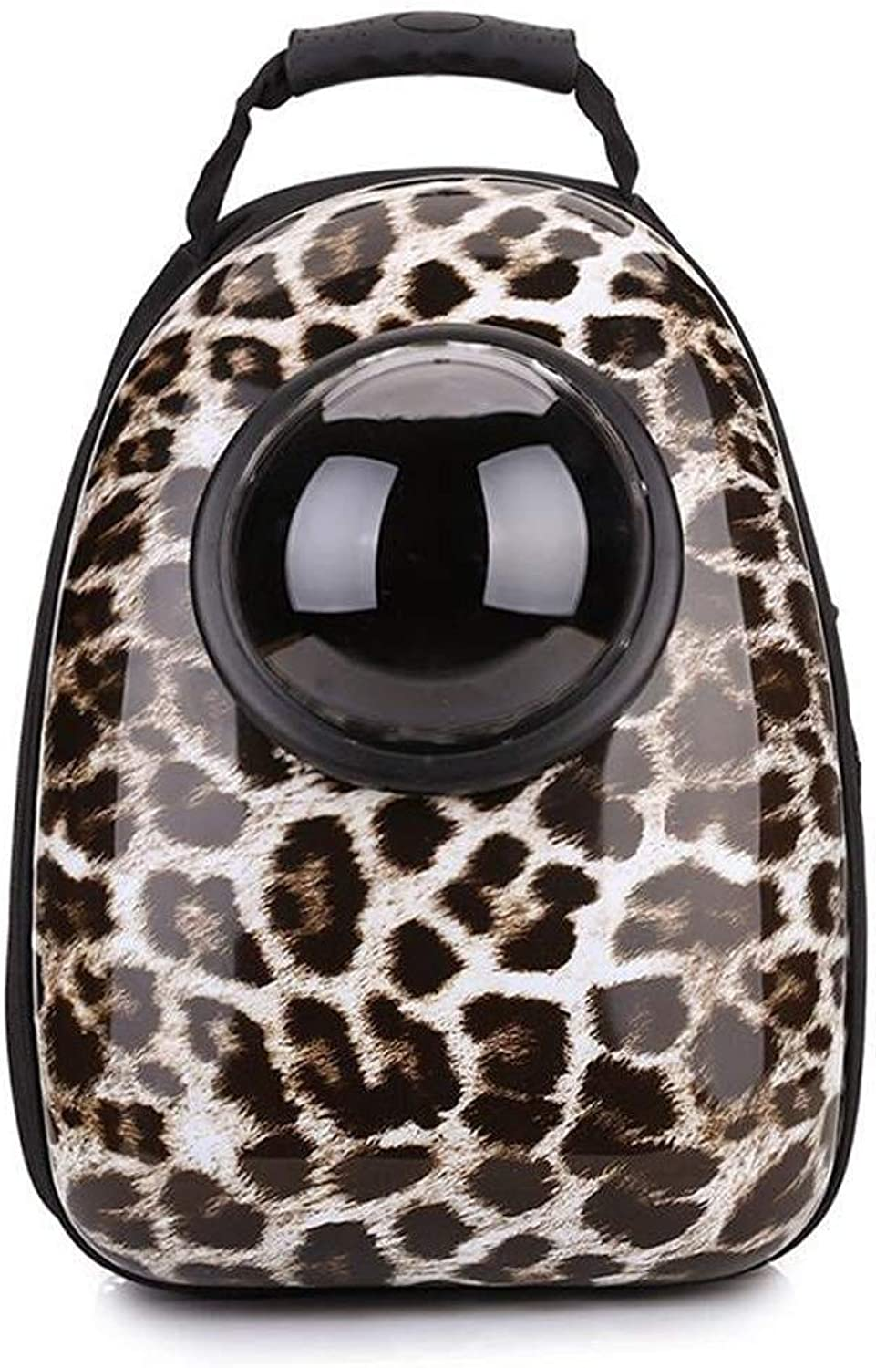 Pet Portable Carrier Leopard Shoulder Space Capsule Pet Cage, Suitable For Travel Hiking Camping Cats, Dogs And Other Pets