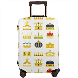 SARA NELL Travel Luggage Cover Crown King&queen Vintage Pattern Suitcase Cover Protector Luggage Baggage Cover Fits 18-32 Inch