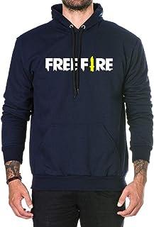 Moletom Unissex Estampado Free Fire Game Mobile Azul-Marinho