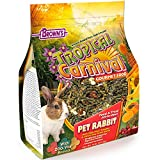 F.M. Brown's Tropical Carnival Gourmet Pet Rabbit Food with High-Fiber Timothy and Alfalfa Hay Pellets, Probiotics for Digestive Health, Vitamin-Nutrient Fortified Daily Diet - 10 lb