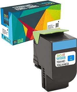 Do It Wiser Compatible High Yield Toner Cartridge Replacement for Lexmark CS310n CS310dn CS410n CS410dn CS410dtn CS510de CS510dte Cyan