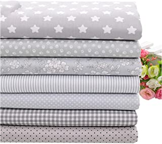 7Pcs 40X50Cm Gery Cotton Fabric For Patchwork Quilts Cushions Patchwork Telas Sewing Tissue Diy Crafts Tilda Cloth
