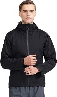 TKTOKY Mens Raincoats Waterproof Breathable rain Jacket Lightweight Windbreaker Hooded Packable Rainwear
