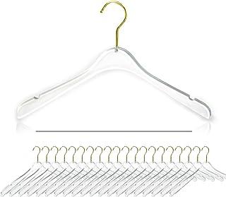 10PCS Acrylic Child Pants Hangers Transparent Clothing Hangers Adult Pants Rack