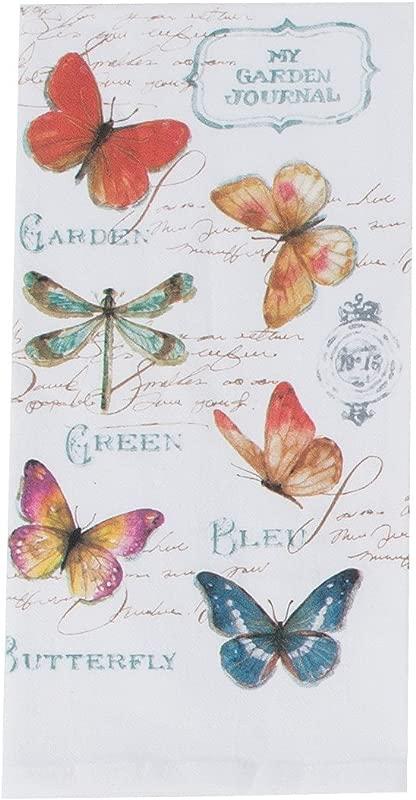 Kay Dee Designs My Journal Butterfly Garden Krinkle Flour Sack Towel