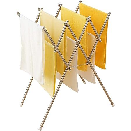アイリスオーヤマ 物干し 伸縮室内物干し オールステンレス 幅42~69.5×奥行65×高さ77㎝ SWX700R