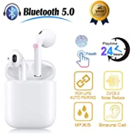 Bluetooth 5.0 Headphones Wireless Earbuds Bluetooth Headset 3D Stereo IPX5 Waterproof Button...