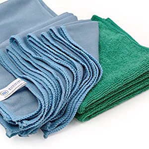 Microfiber Glass Cleaning Cloths – 8 Pack | Lint Free – Streak Free | Quickly and Easily Clean Windows & Mirrors Without Chemicals