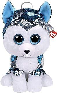 TY– Mochila de Peluche con Lentejuelas de 30 cm, diseño de Perro con el Perro, TY95025, Multicolor