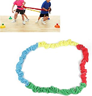 WICHEMI Elastic Fleece Cooperative Stretchy Band Integrations Dynamic Movement Exercise Latex Band Stretchy Creative Movement Prop for Group Activities Special Needs Large Motor Coordination