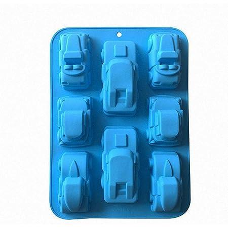 MKNzone 1 Moule en Silicone pour Muffins, Cupcake Et Gelée - Forme de Voiture, Livraison de Couleur Aléatoire(29 X 17 X 5 cm)